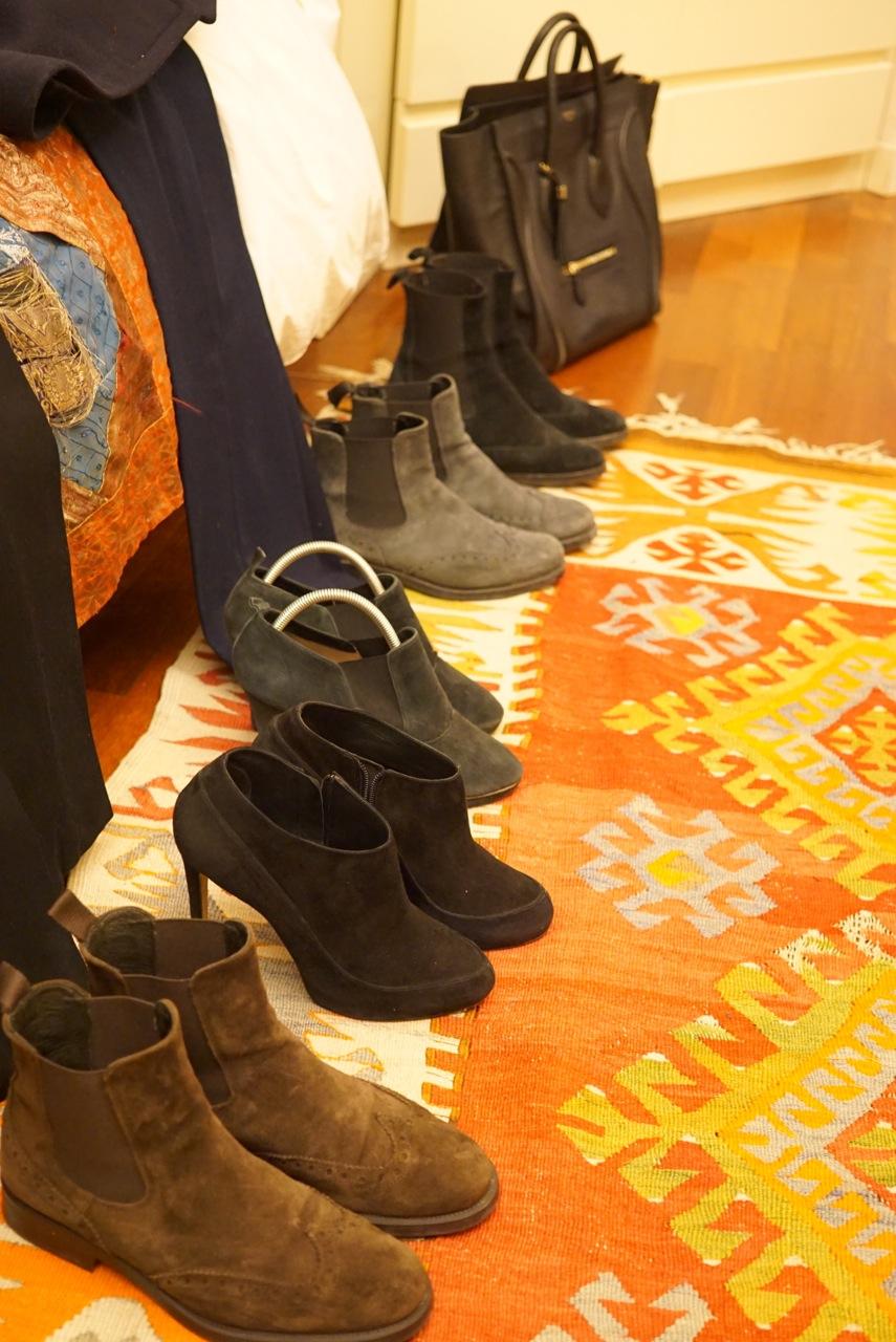 E a seleção de sapatos.