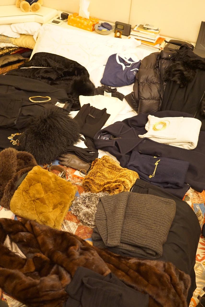 A mala para o frio congelante de Nova Iorque!