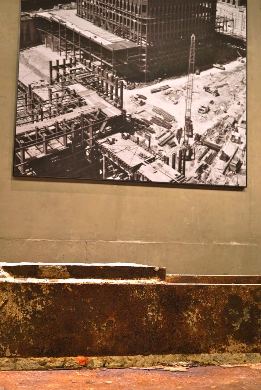 O museu também conta da construção das torres.