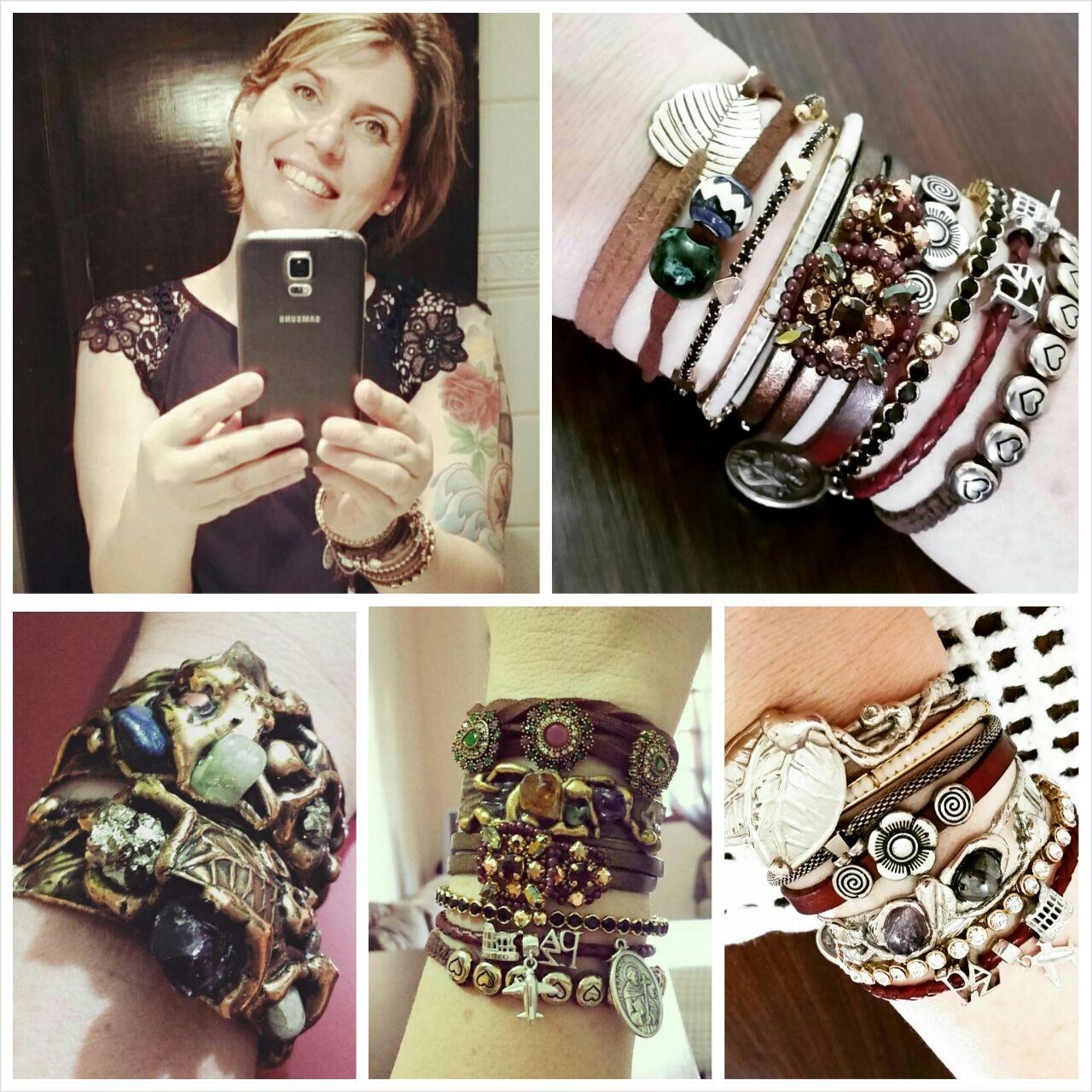 Amo pulseiras...tenho várias. ..de vários tipos, materiais e principalmente lugares...adoro garimpar por aí. E você é uma inspiração pra mim!! Beijos querida.