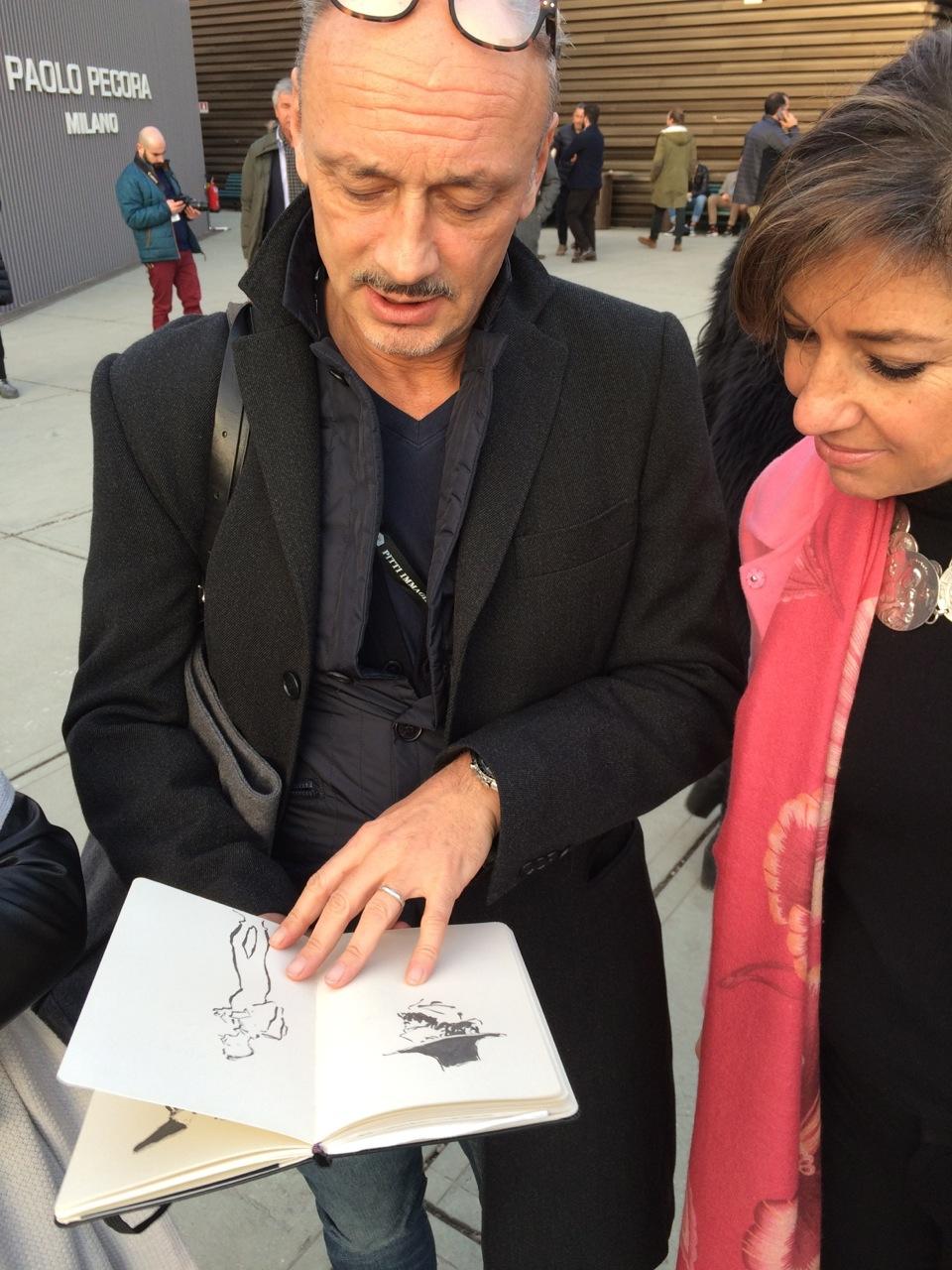Encontramos os amigos Andrea e Daria da Chez Dédé. Andrea documenta com ilustrações maravilhosas que estão no Instagram deles.