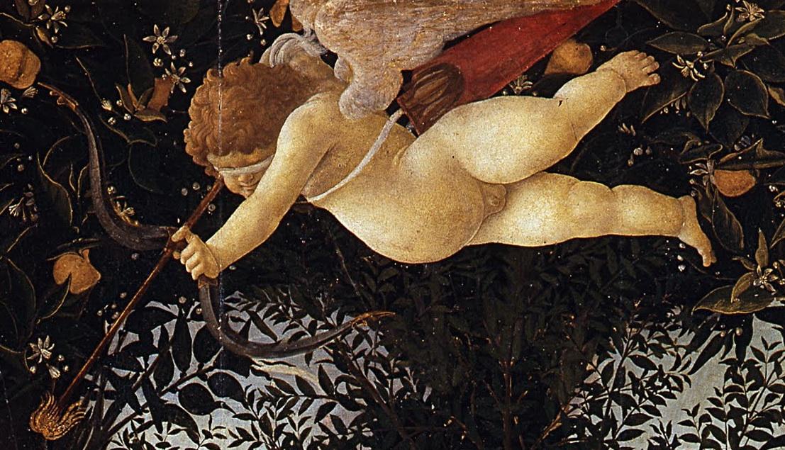 """A flechada desse inocente """"anjinho"""" arrebata qualquer um, podendo nos alçar, imediatamente, ao paraíso."""