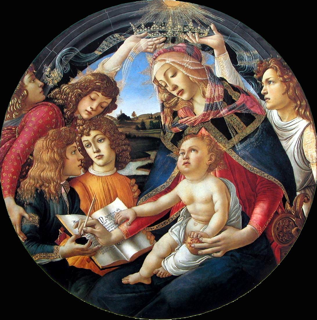 Coroação da Virgem Nossa Senhora da Assunção (1481-83). Galleria degli Uffizi, Florença.