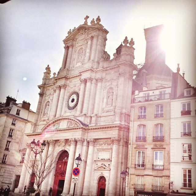 A igreja de Saint Paul no Marais