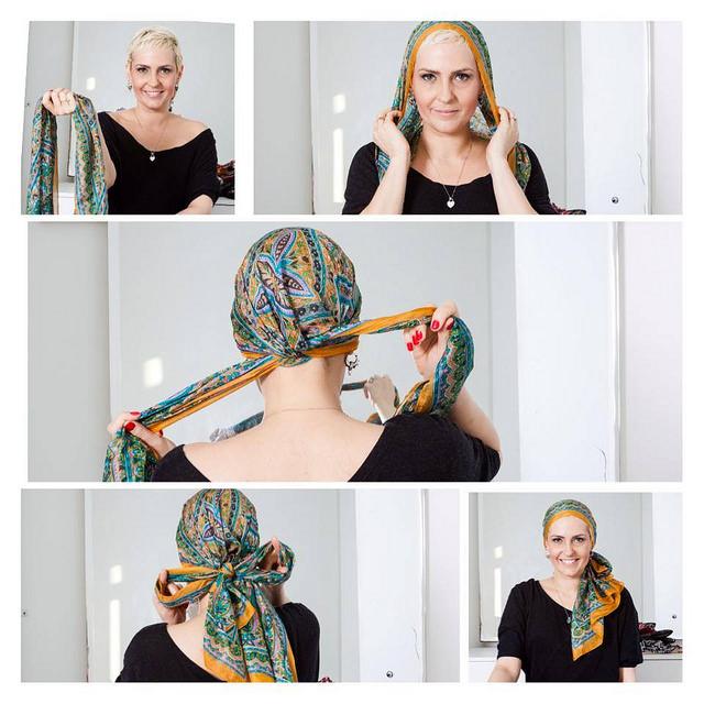 Alguns exemplos de como amarrar um lenço!