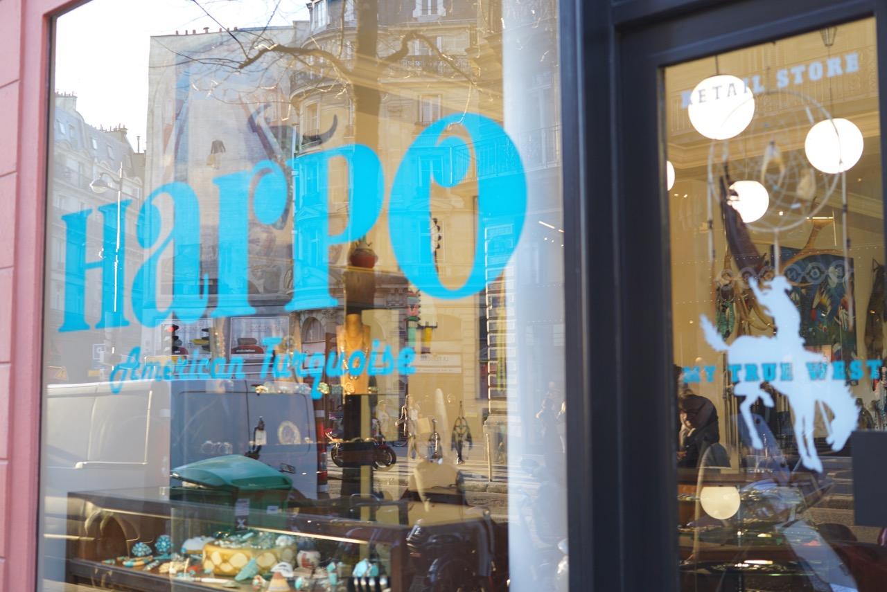 Harpo, jóias de turquesa tipo de índios americanos. Sei que não tem muito a ver com Paris, mas é linda! 19 Rue de Turbigo... essa já é fora do Marais.