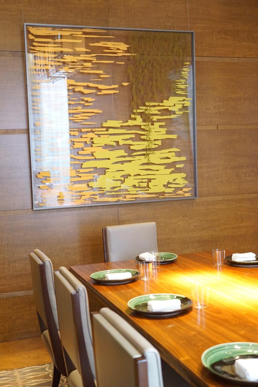 Também tem uma sala para jantares privé...