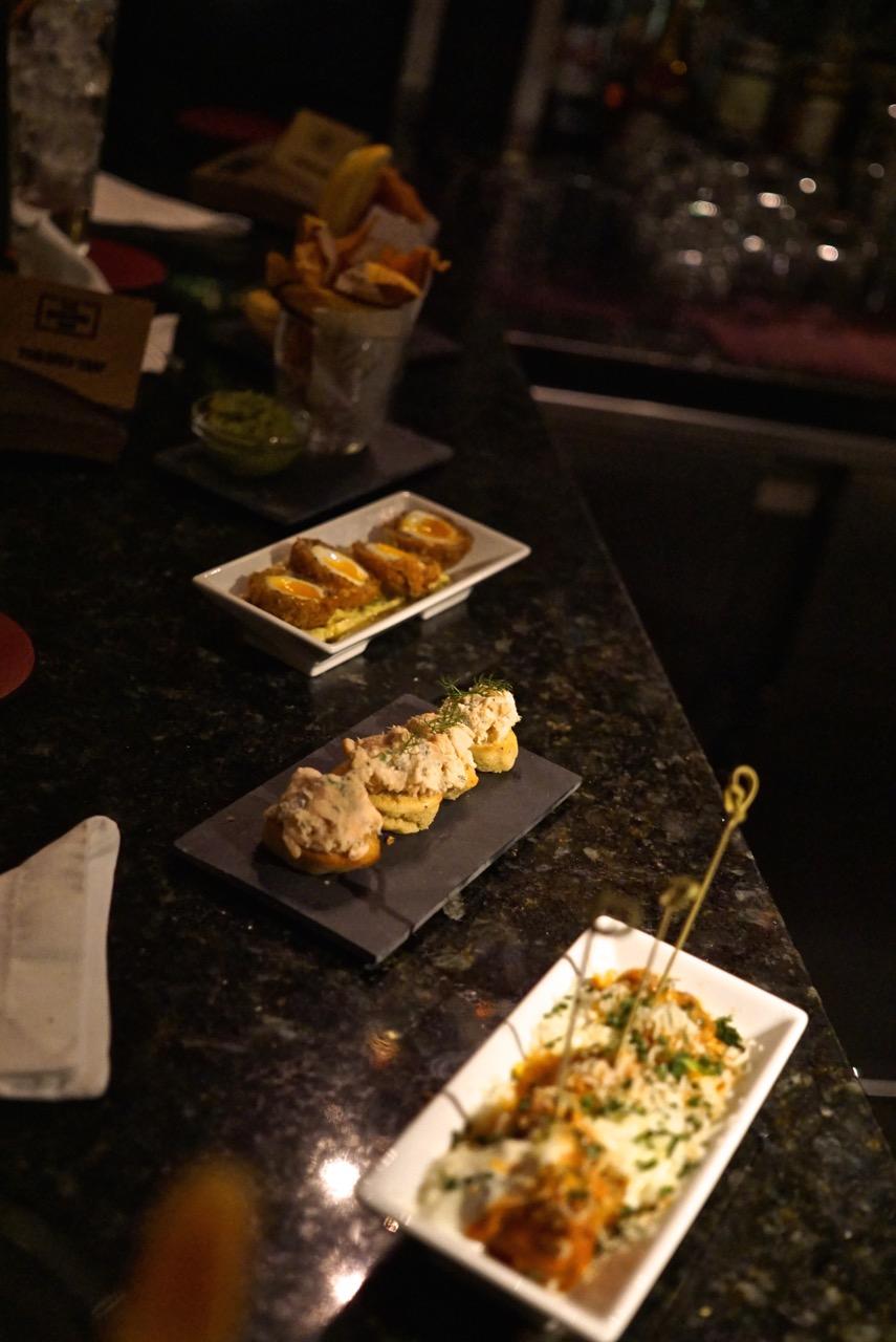 Os snacks do restaurante Hix são uma delícia!!