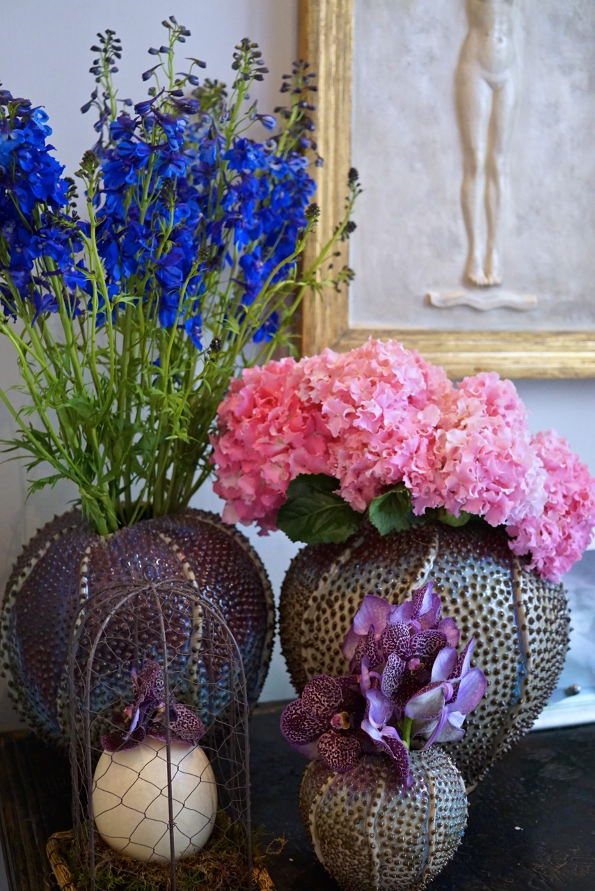 As flores do hotel...
