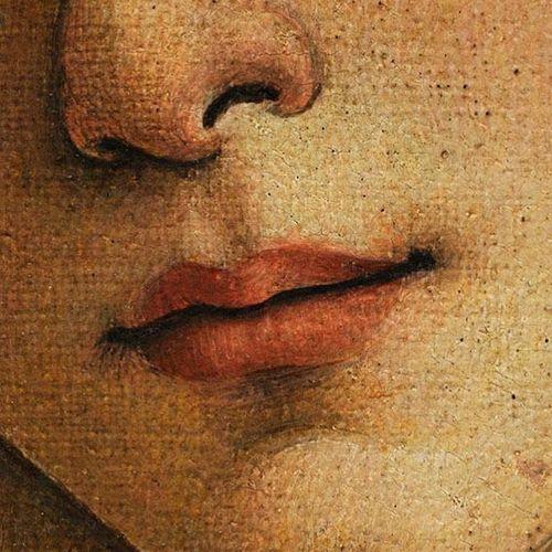 Será que algum outro artista conseguiu expressar com tamanha maestria, lábios tão convidativos a um beijo quanto esses?