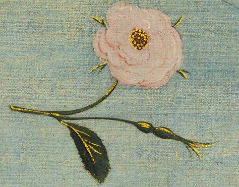 """Detalhe de uma das rosas presentes no """"Nascimento""""."""