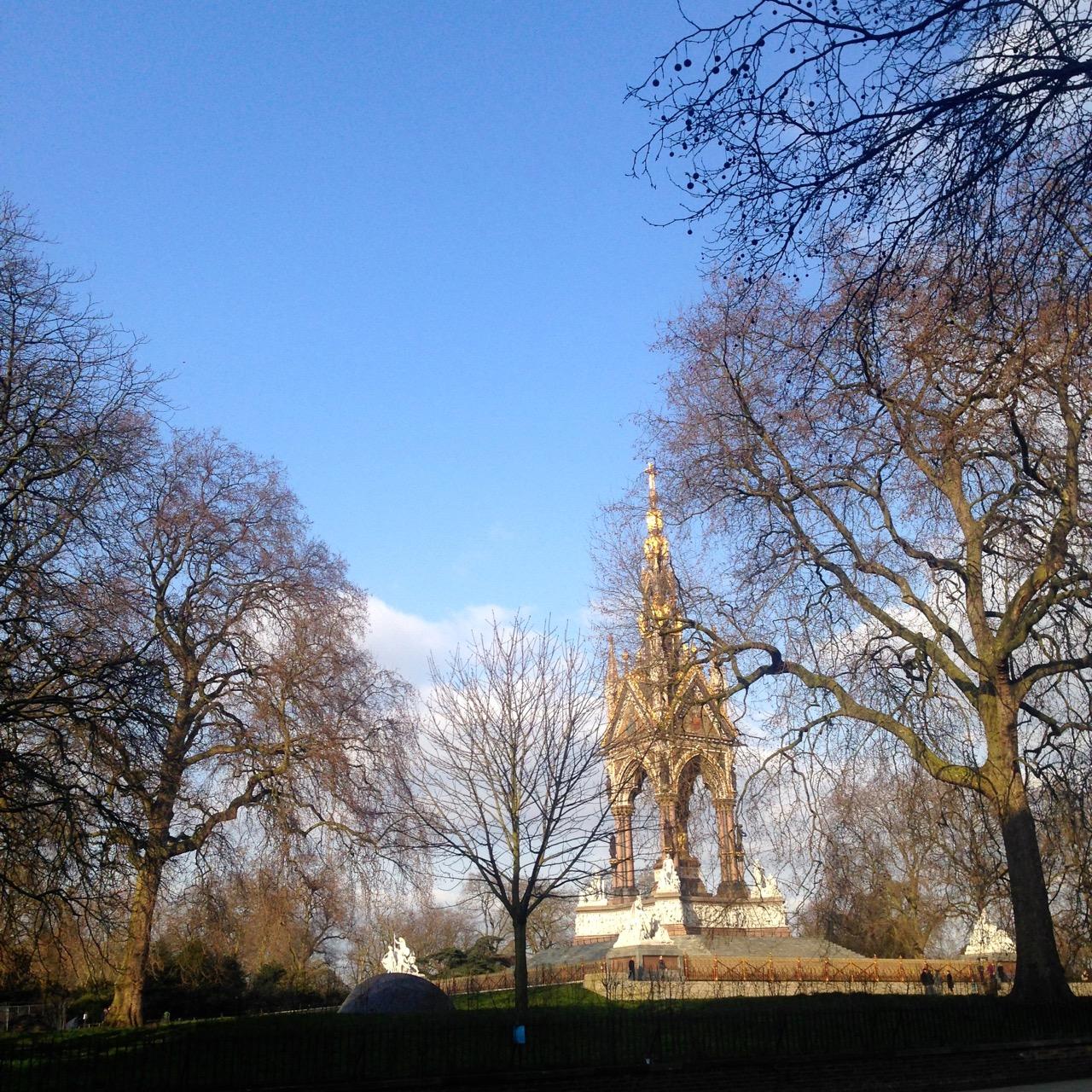Dei um passeio pelo Hyde park...
