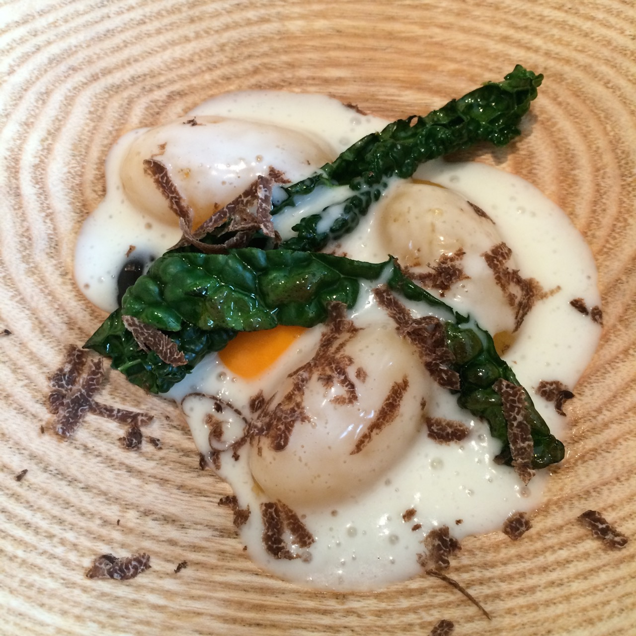 Swede dumplings, Isle of Mull cheese and truffle
