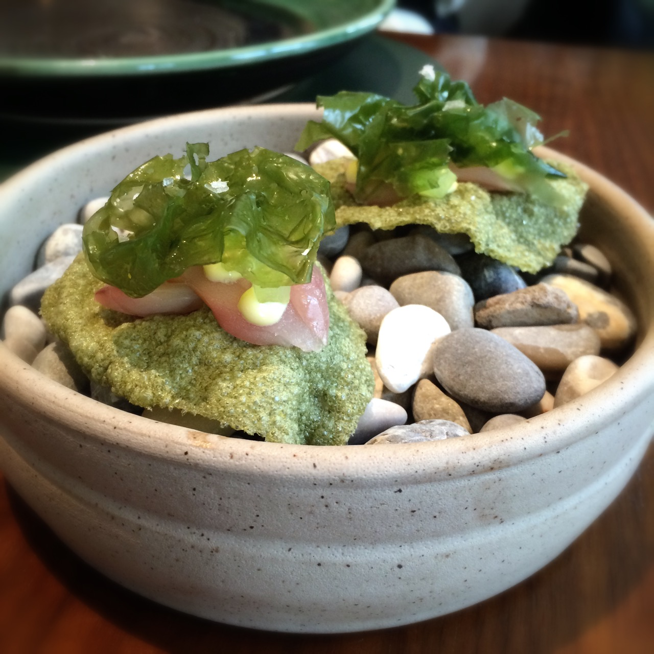 Mackerel, horseradish and seaweed