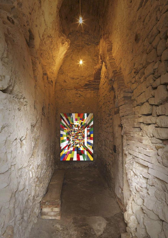 O convite da exposição de Valentino Fialdini em Todi