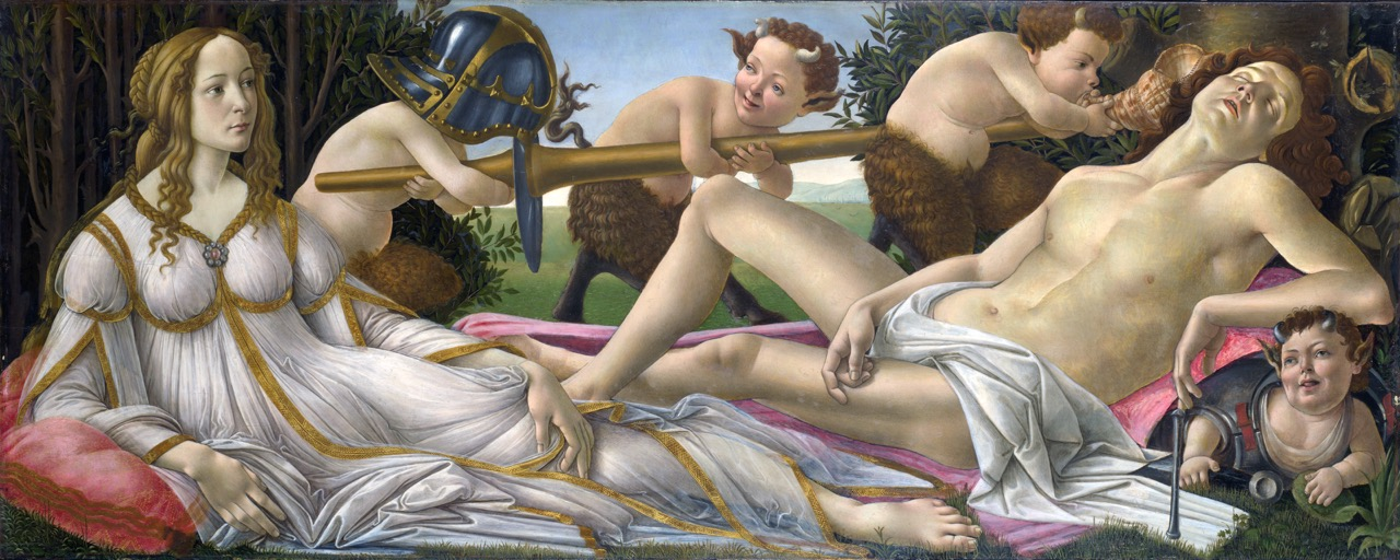 Marte e Vênus, de Sandro Botticelli (1483). National Gallery, Londres.