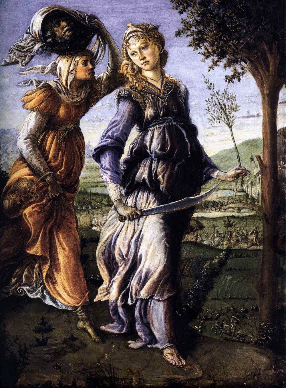 O regresso de Judith a Betulia (1472-1473), Galleria degli Uffizi, Florença.