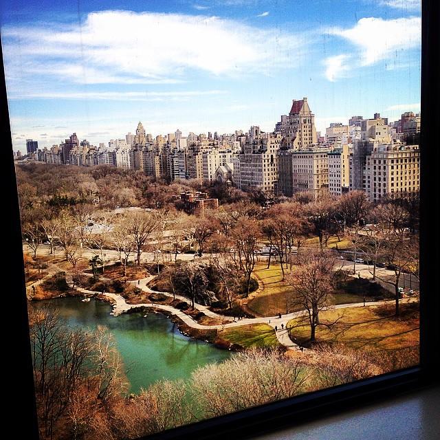 A manhã seguinte, vista do quarto da minha mãe no hotel Park Lane. Um sol tímido, mas com o vento estava bem frio!