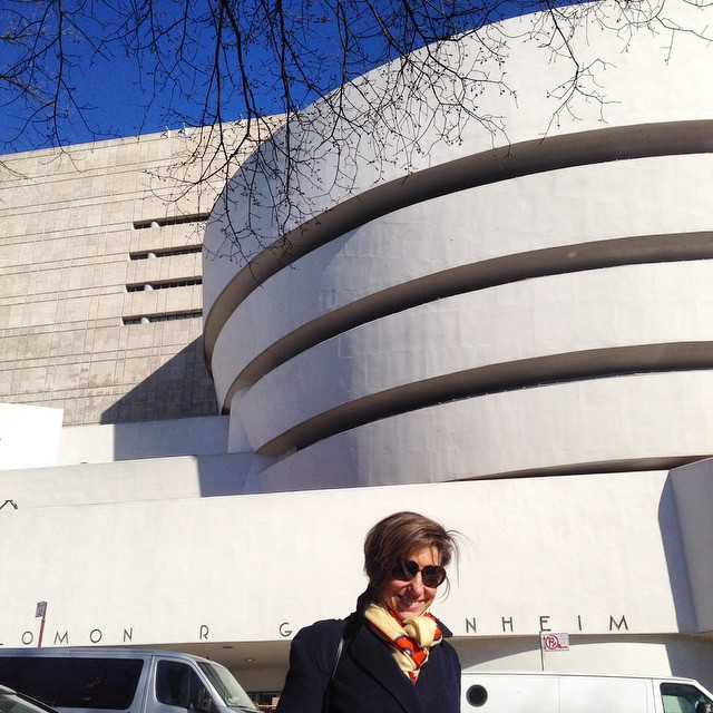 O Guggenheim é por Frank Lloyd Wright