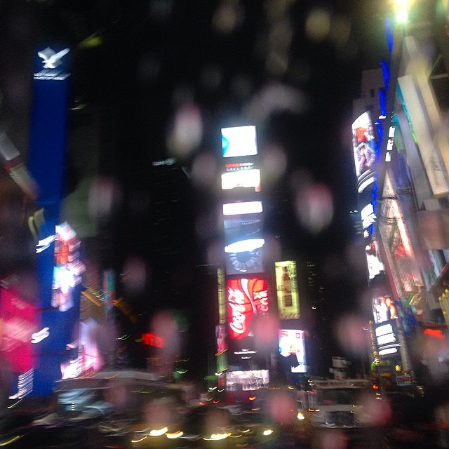 Fim da noite... choveu!