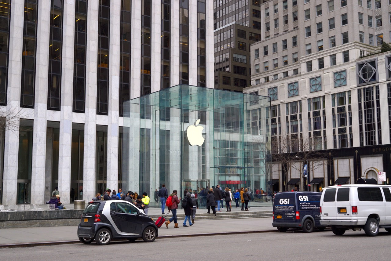 As lojas da 5th Avenue... Apple