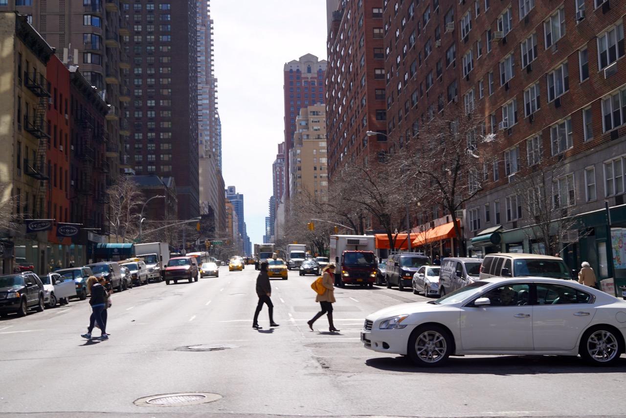 Dalí, na altura da 74th Street, fomos até a 3rd Avenue...