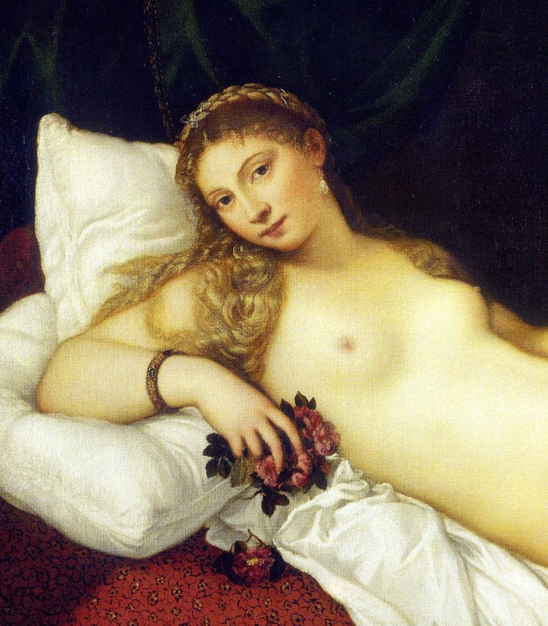 Tiziano Detalhe Vênus de Urbino