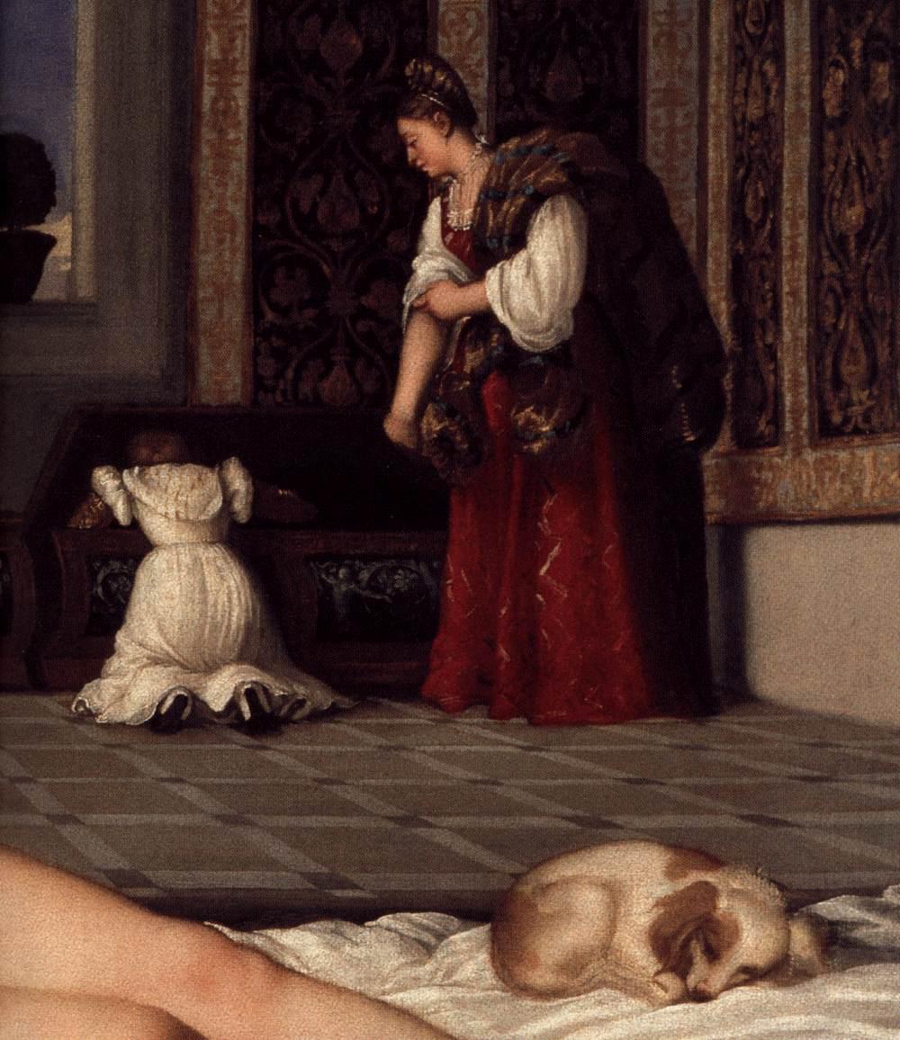 Tiziano Detalhe Vênus de Urbino3