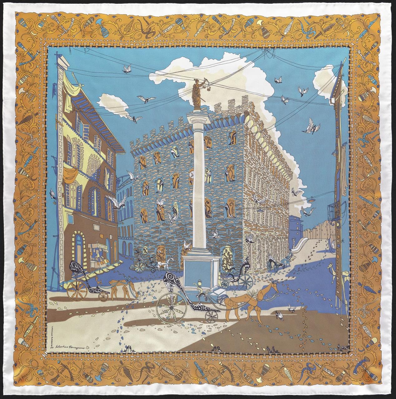 O foulard comemorativo da exposição