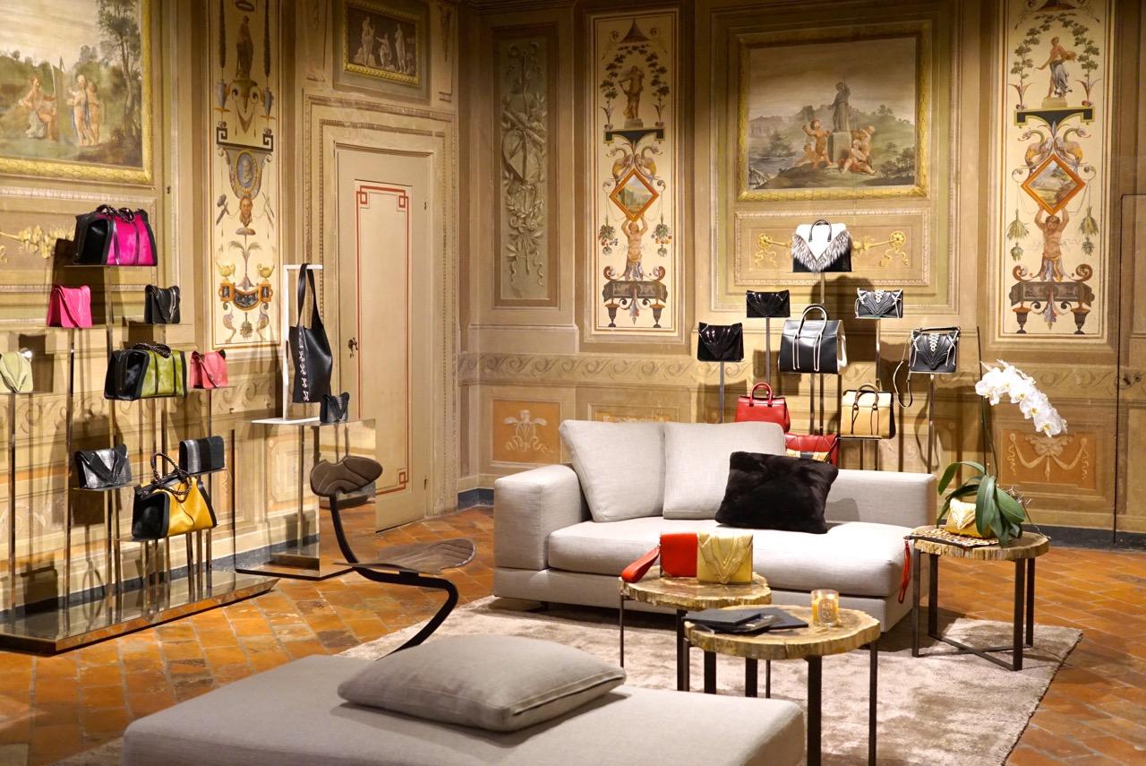 O showroom no Palazzo Ruccelai