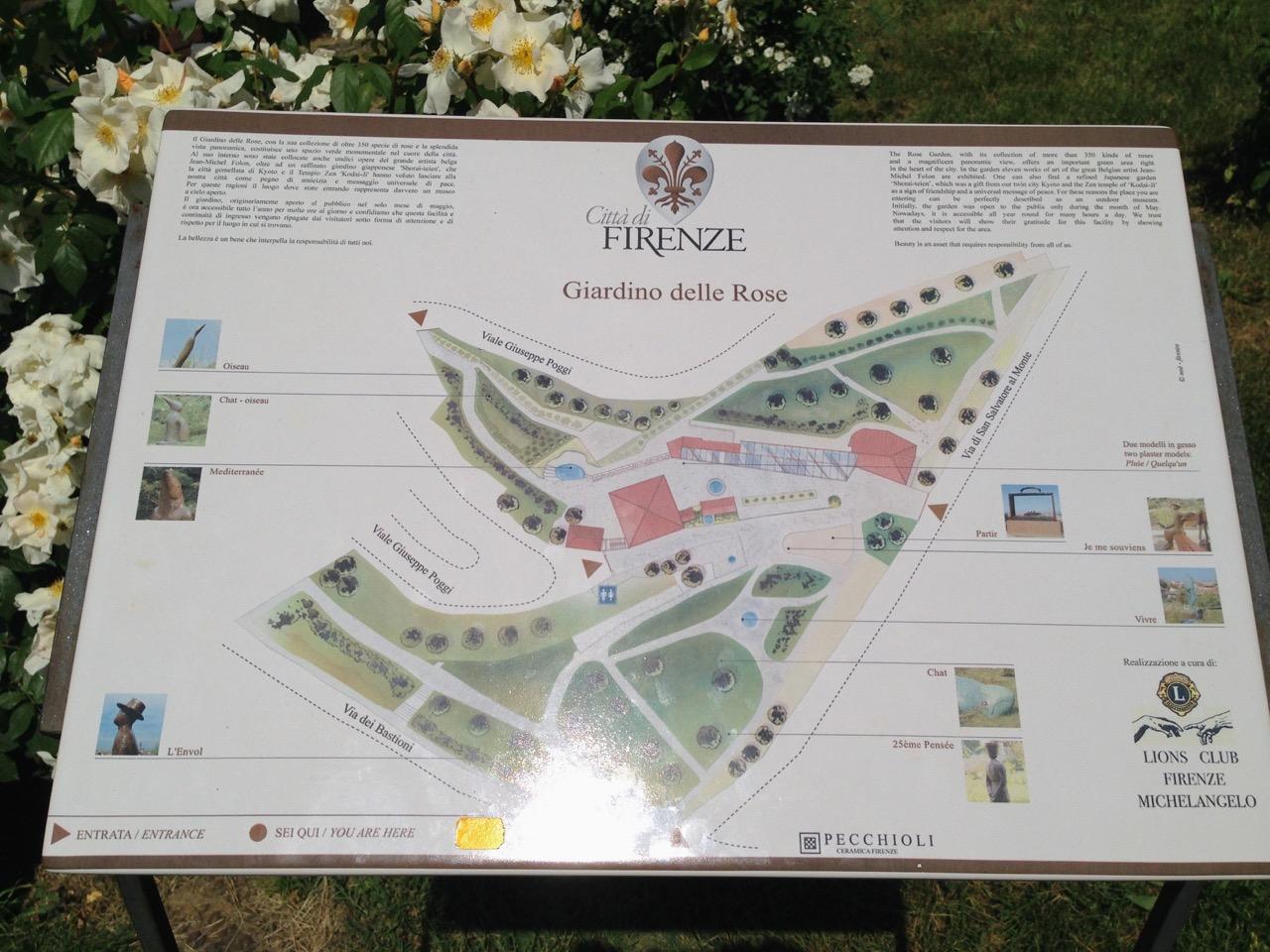 Um mapa do jardim