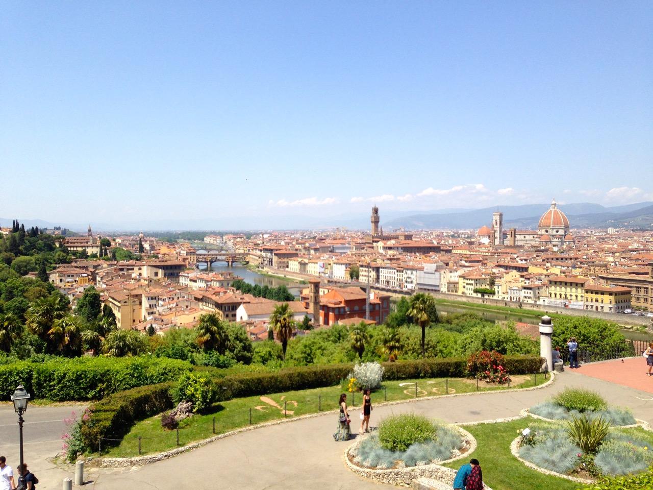 A vista da cidade do Piazzale
