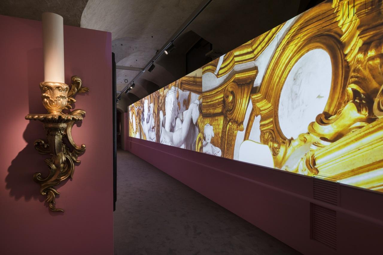 """Florence, Salvatore Ferragamo Museum: """"Salvatore Ferragamo, un Palazzo e la Città"""" Hall #03 ©2015 G.de Micheli per Salvatore Ferragamo"""