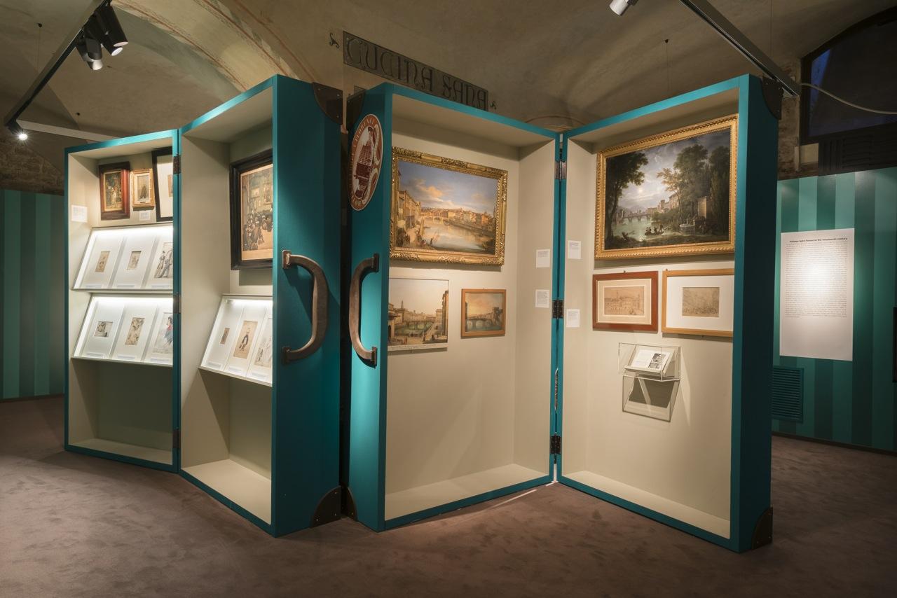 """Florence, Salvatore Ferragamo Museum: """"Salvatore Ferragamo, un Palazzo e la Città"""" Hall #06 ©2015 G.de Micheli per Salvatore Ferragamo"""