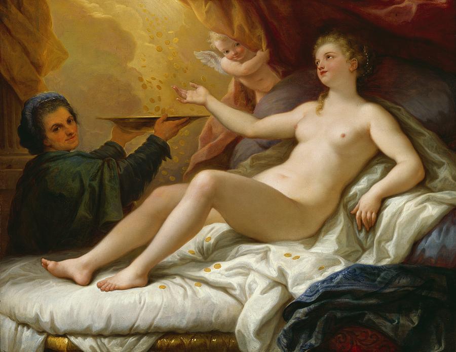 Danae fecundada por Zeus (Júpiter) com uma chuva de ouro, por Paolo de Matteis (1702-05) – Detroit.