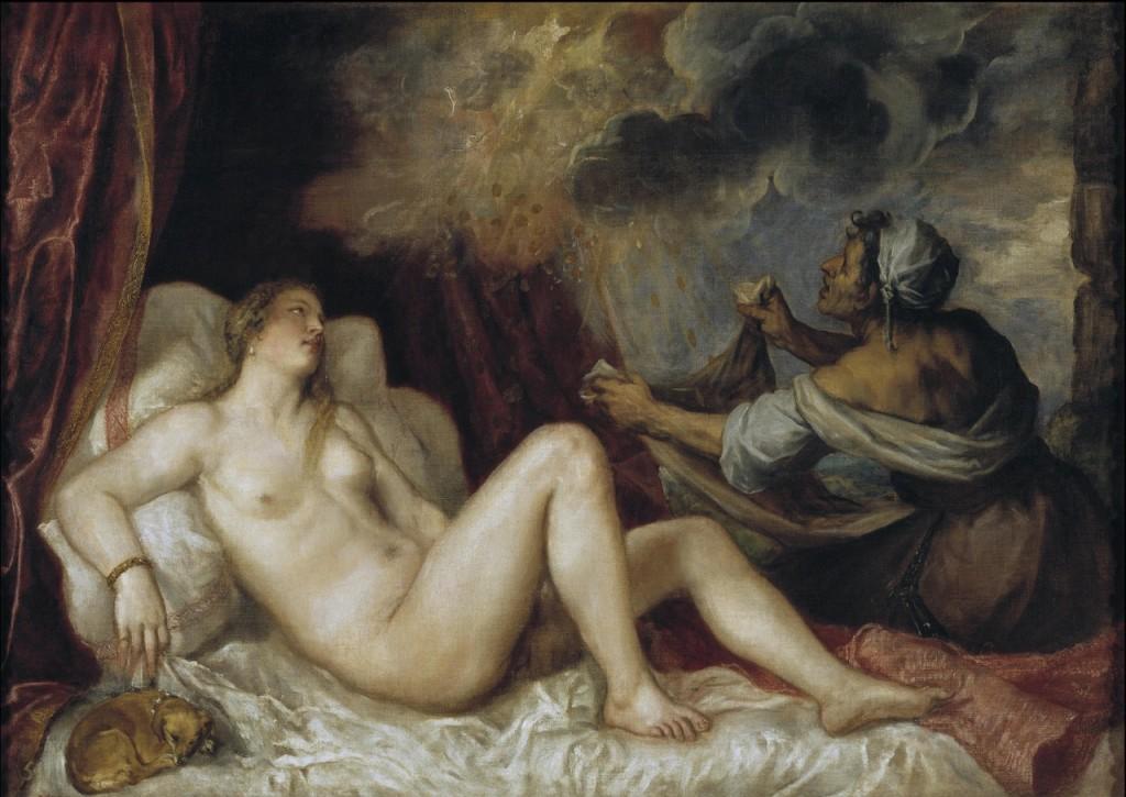 Danae, por Tiziano Veccellio (1553) – Museo del Prado, Madrid.