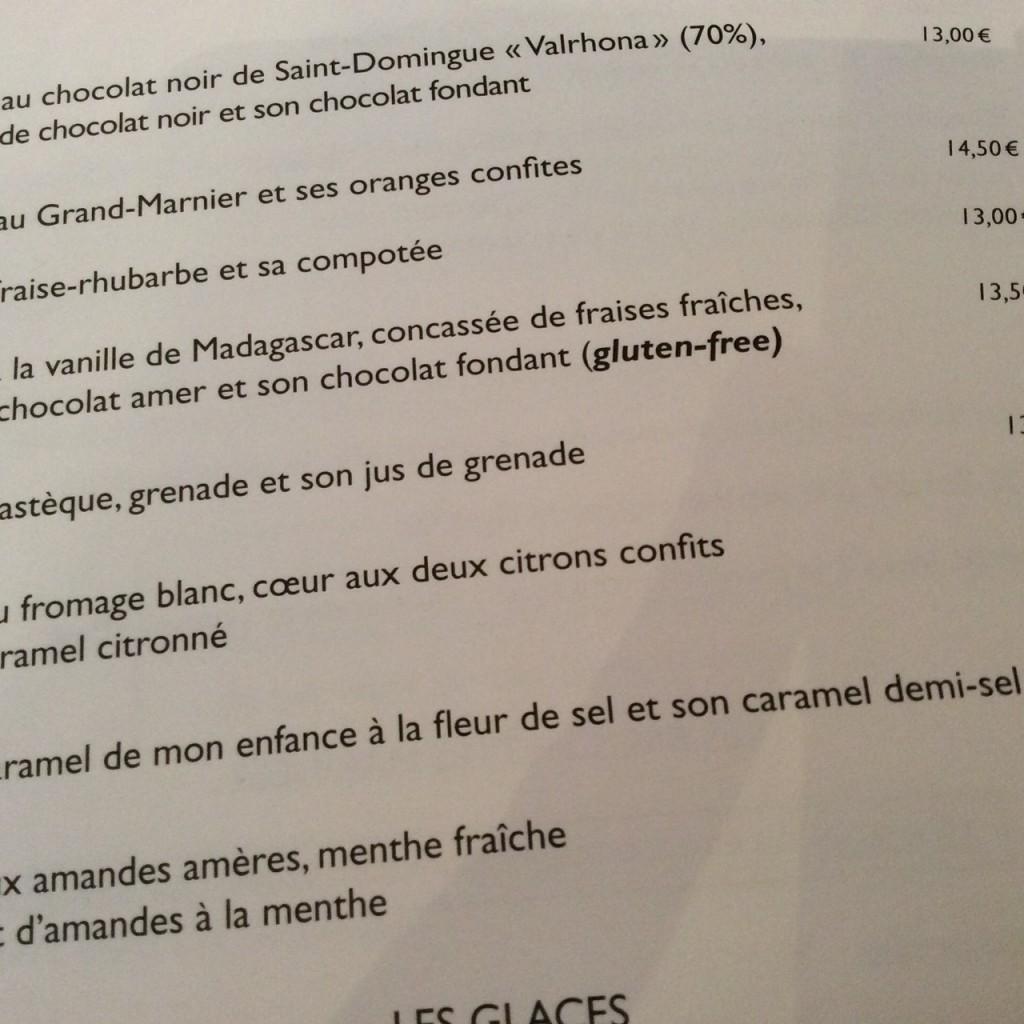 O menu com as várias opções
