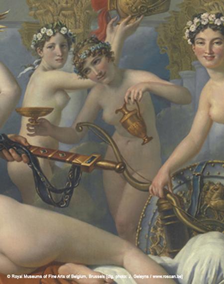 Jacques-Louis David detalhe das Graças