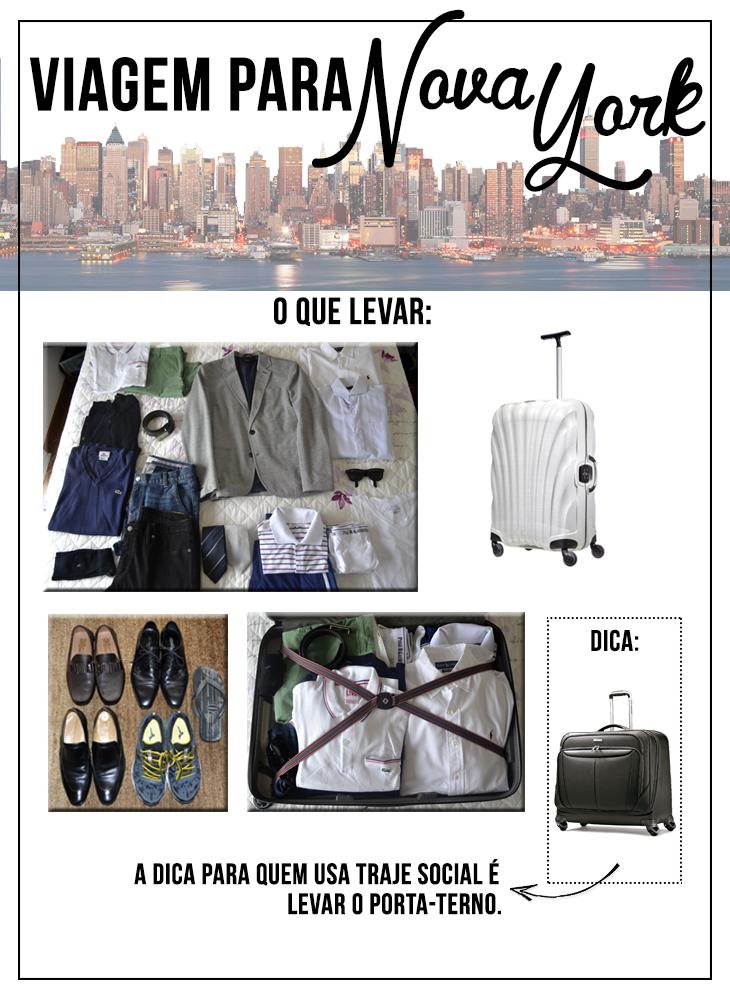 O que deve-se levar na mala masculina de viagem? por Claudio