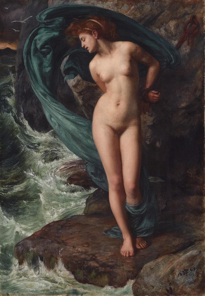 Andrômeda, por Edward Poynter (1869) – Coleção privada.