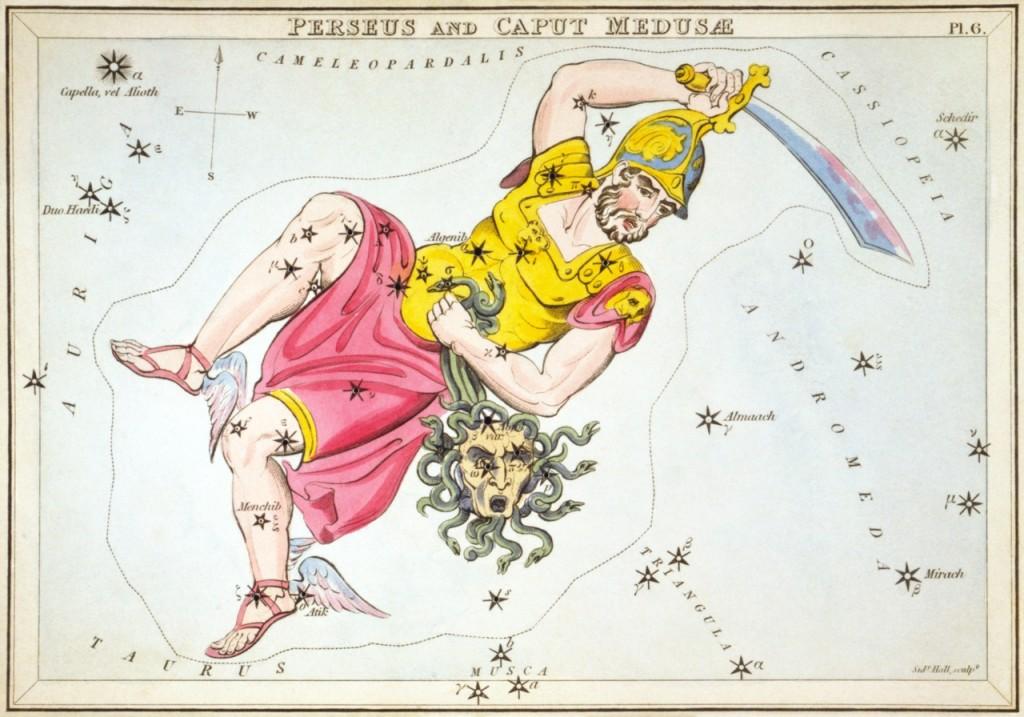 Perseu Constelação colorida