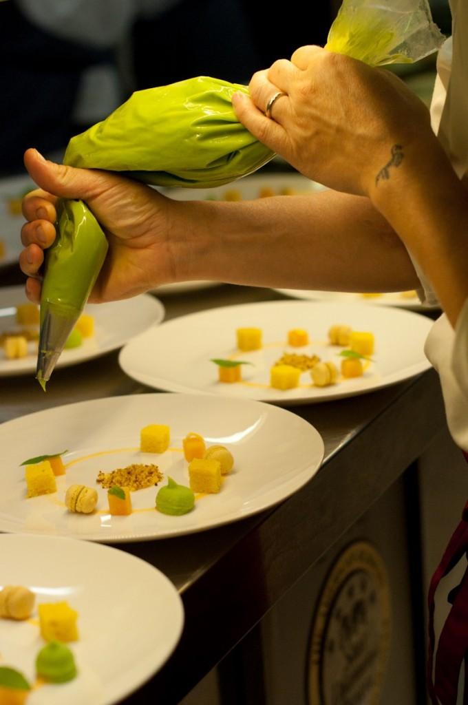 E a sobremesa maravilhosa onde menta e melão se intercalam em várias formas!