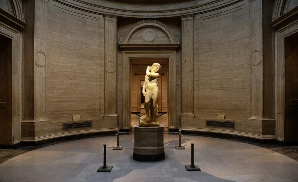 Apolo a retirar uma flecha da aljava. National Gallery, Londres.