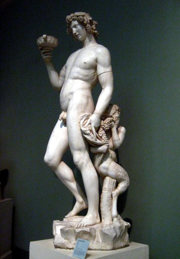Baco de mármore (1497). Museu Nacional de Bargello, Florença.