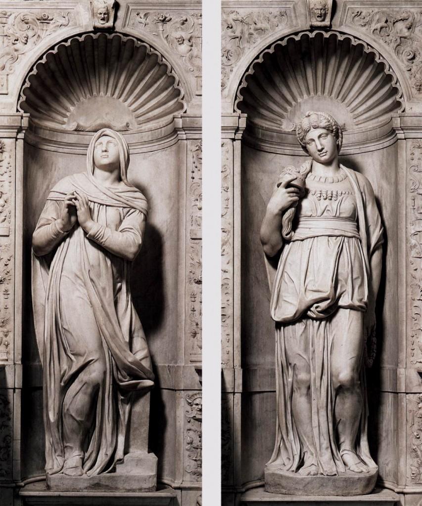 Moisés entre Rachel (Vida contemplativa) e Lia (Vida ativa).