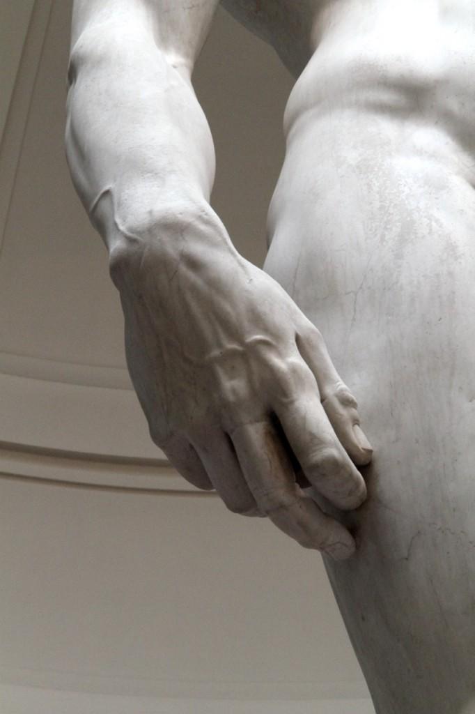 Buonarroti detalhe mão de Davi