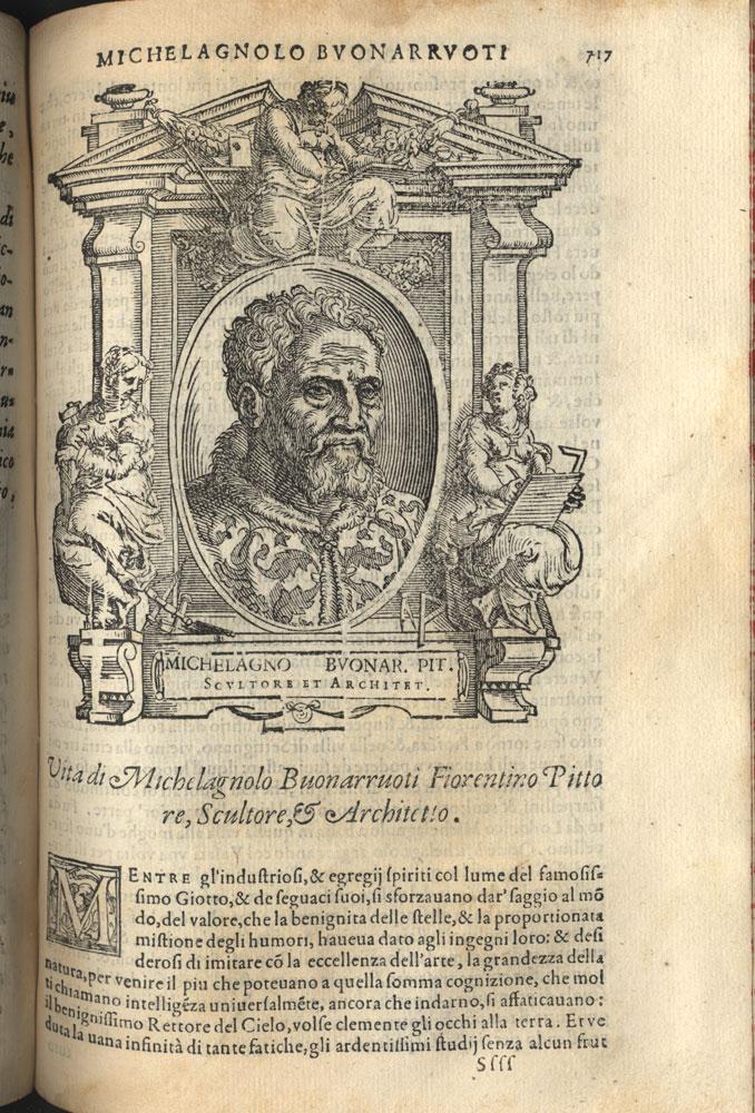 Buonarroti na obra de Vasari.