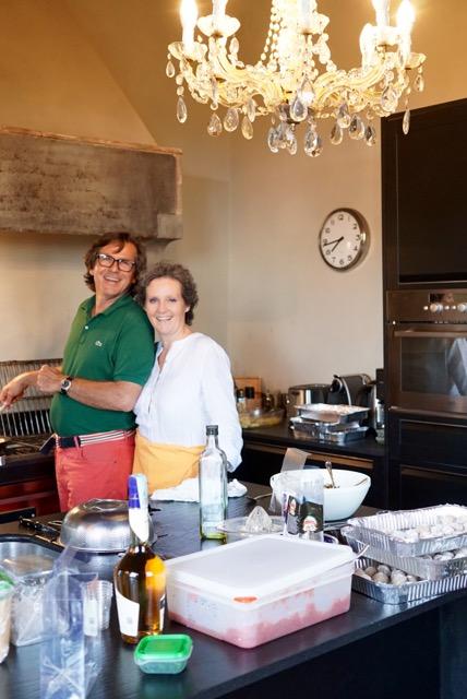 Lisa Banchieri é a nossa chef e amiga com seu companheiro Giampaolo Mochi