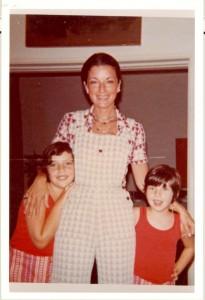 Anos 70 no Rio de Janeiro com minha mãe e irmã Alessandra
