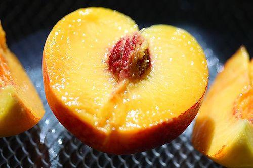 O pêssego é super suculento